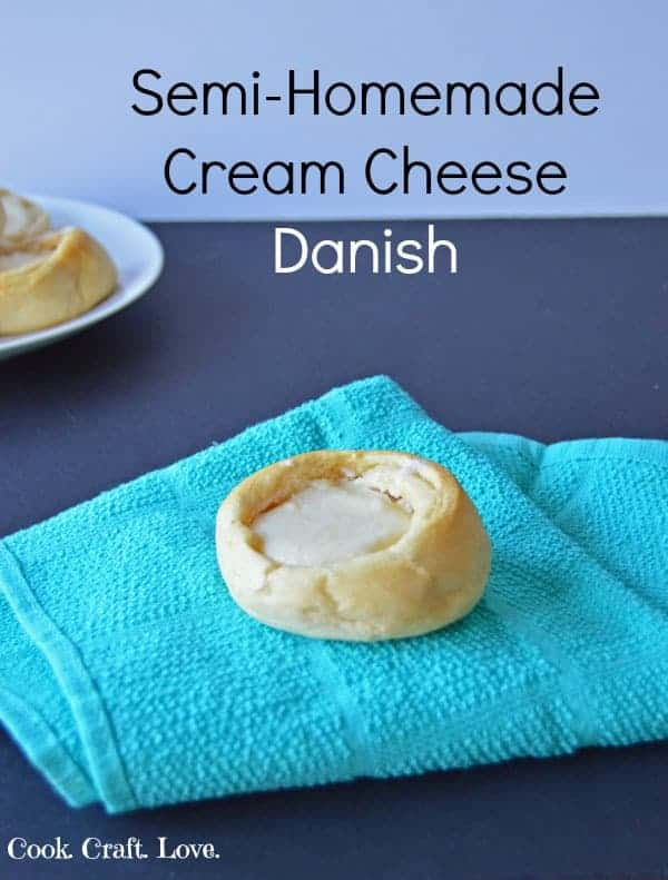 For a quick and simple brunch or breakfast treat try some semi homemade cream cheese danish! These danish are on the table in less than 30 minutes and the secret to the pastry is my favorite part!