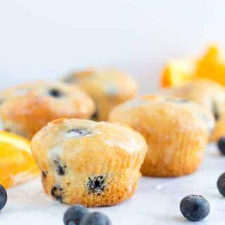 One Bowl Blueberry Orange Muffins