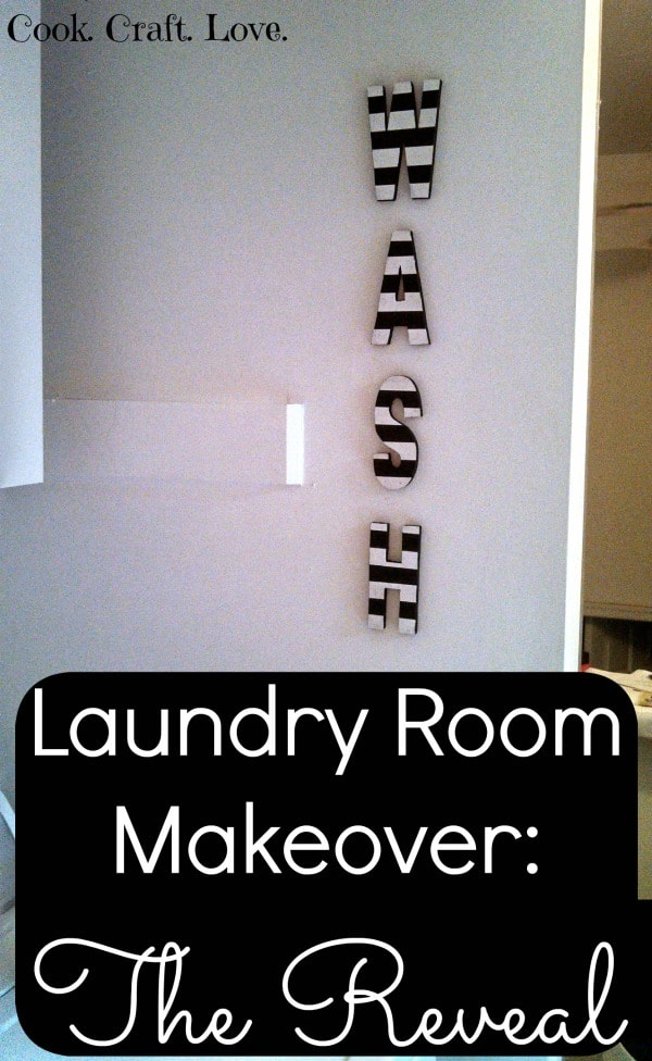 Laundry Room Makeover: The Reveal