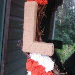 DIY Burlap-Wrapped Letter