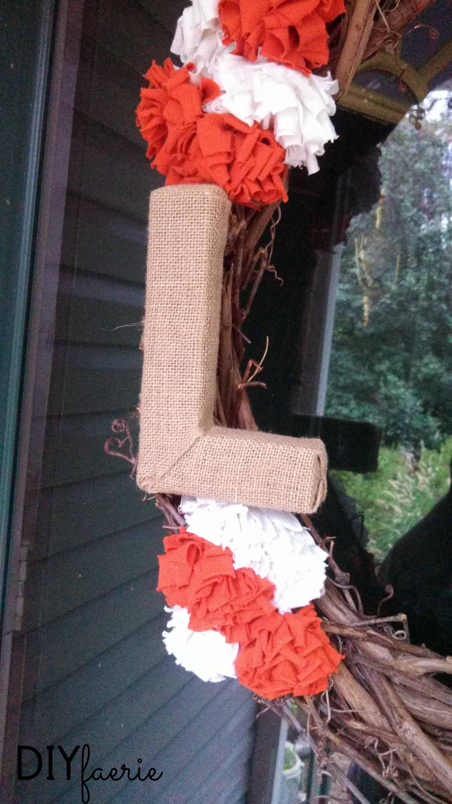 DIY Burlap-Wrapped Letter