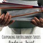 Binder vs. Insert Coupon Organization