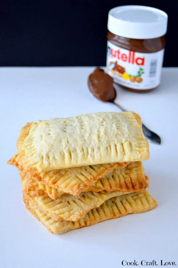 Homemade nutella poptarts are easier than you think! They're fast becoming one of my favorite nutella recipes and are a great way to satisfy my poptart cravings! Don't skip step #5 and you'll have perfect poptarts every time!