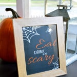 Pick your favorite from these 3 free Halloween printables and easily liven up your holiday decor with little to no effort.
