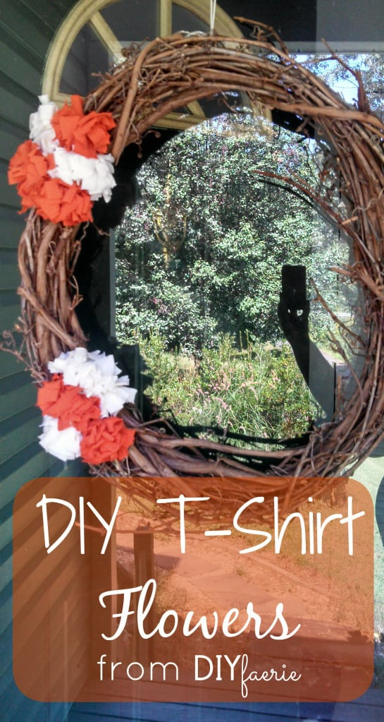 DIY T-Shirt Flowers