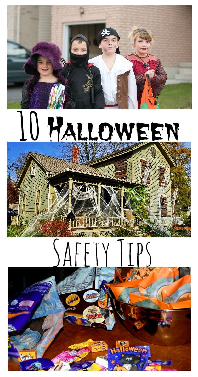 If you're going to be trick or treating with the kiddos this Halloween be sure to remember these 10 Halloween Safety Tips for the big night!