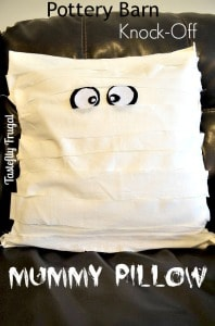 Pottery Barn Knock off Mummy Pillow from Tastefully Frugal