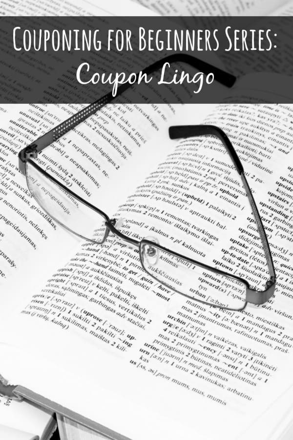 Couponing beginners can really struggle with all the crazy coupon lingo there is out there! If you're a coupon beginner totally confused by the crazy abbreviations in the coupon world then this list is for you!