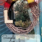 This simple thanksgiving wreath is put together in less than 10 minutes for only a couple dollars!