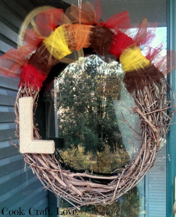 Simple Thanksgiving Wreath | Cook. Craft. Love.