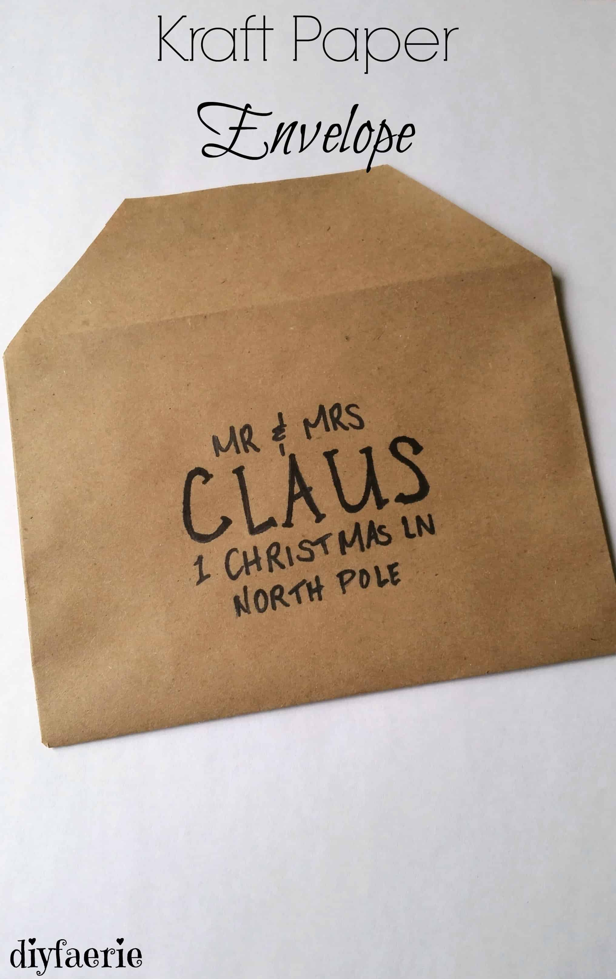 Kraft paper makes beautiful diy homemade envelopes for your Christmas cards!