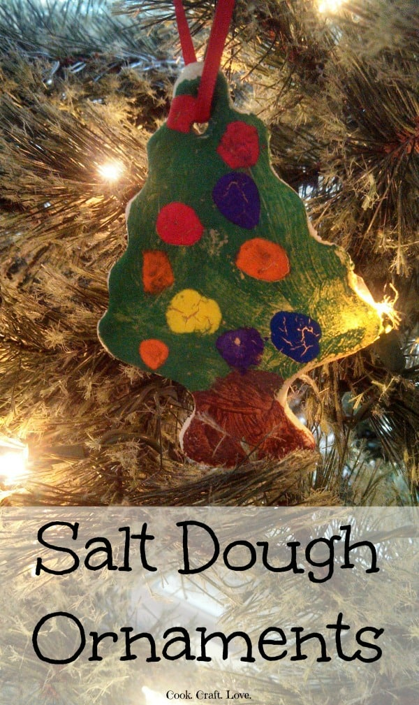 Salt Dough ornaments are super easy and the kids can help in every step of the process! These ornaments make a great gift for teachers, grandmas, or extended family!
