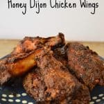 Blackened Honey Dijon Chicken Wings