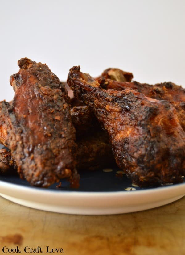 Adding a little extra char to these blackened honey dijon chicken wings only adds another depth of flavor that will have you wanting to blacken all your chicken wings! Bake these chicken wings low and slow in the oven for a perfect crispy wing without the fryer!