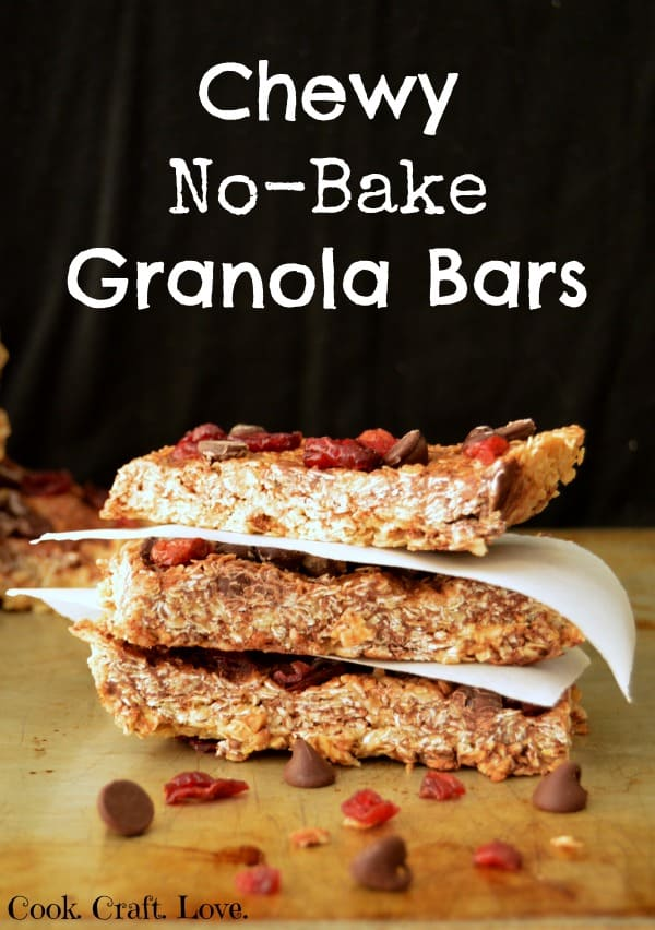 Chewy No-Bake Granola Bars | Cook. Craft. Love. for Tastefully Frugal