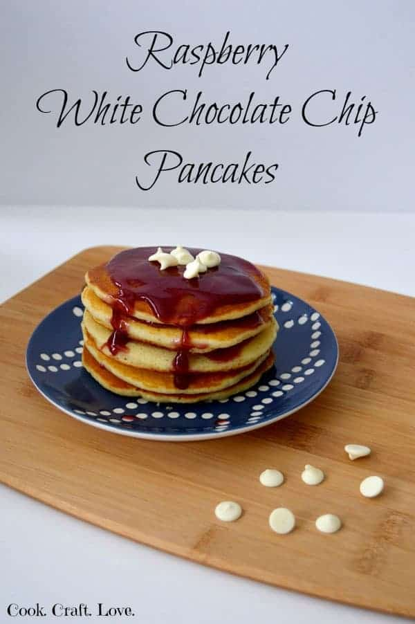 After I stopped using mixes and started making pancakes from scratch I couldn't get enough. And lucky for me the flavor combinations for pancake recipes are endless! Try my new favorite pancake flavor combo: raspberry and white chocolate!