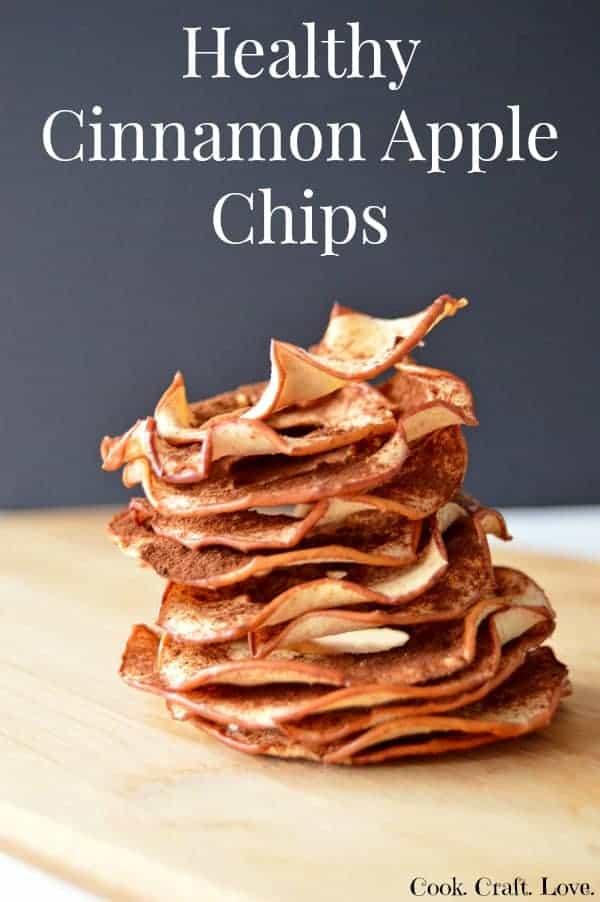 Healthy Cinnamon Apple Chips | Cook. Craft. Love.