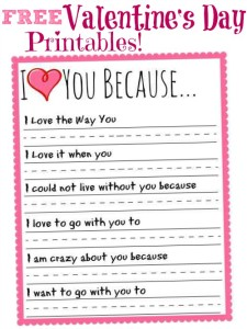 25 sweet valentines day printables cook craft love