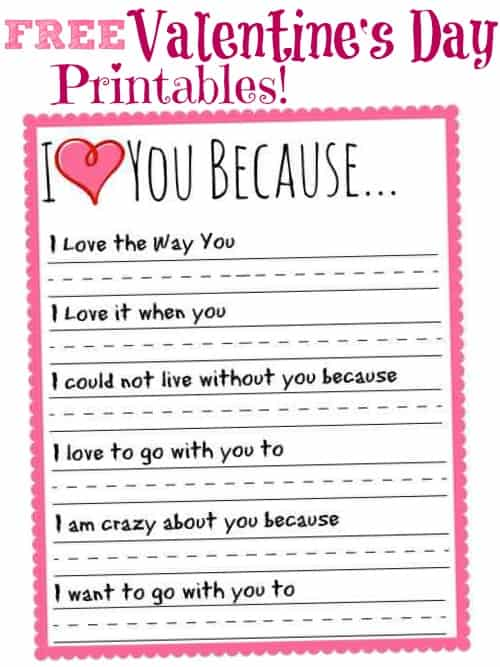25 Sweet Valentines Day Printables Cook Craft Love. Worksheet. Valentine Day Worksheets At Clickcart.co