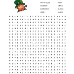 St. Patrick's Day Word Search {free printable!}