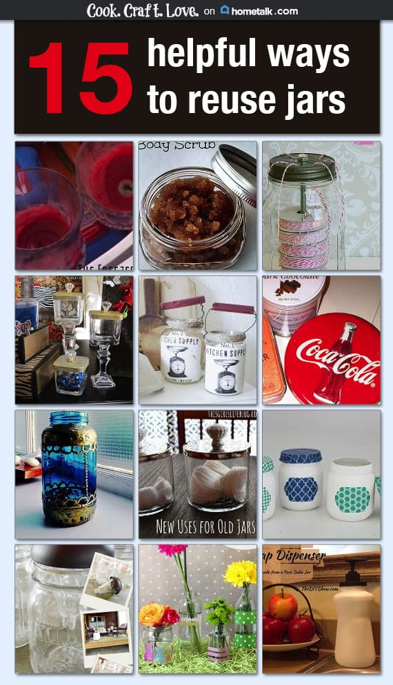 I put together a list of 15 awesome ways to reuse old jars for Hometalk! From repurposing mason jars into crafts to body scrubs and more come get some new ideas for those leftover mason jars!
