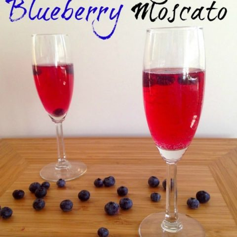 Blueberries soaked in sweet moscato wine create the perfect refreshing spring and summer drink. Add sprite and you've got a sparkling wine to die for!
