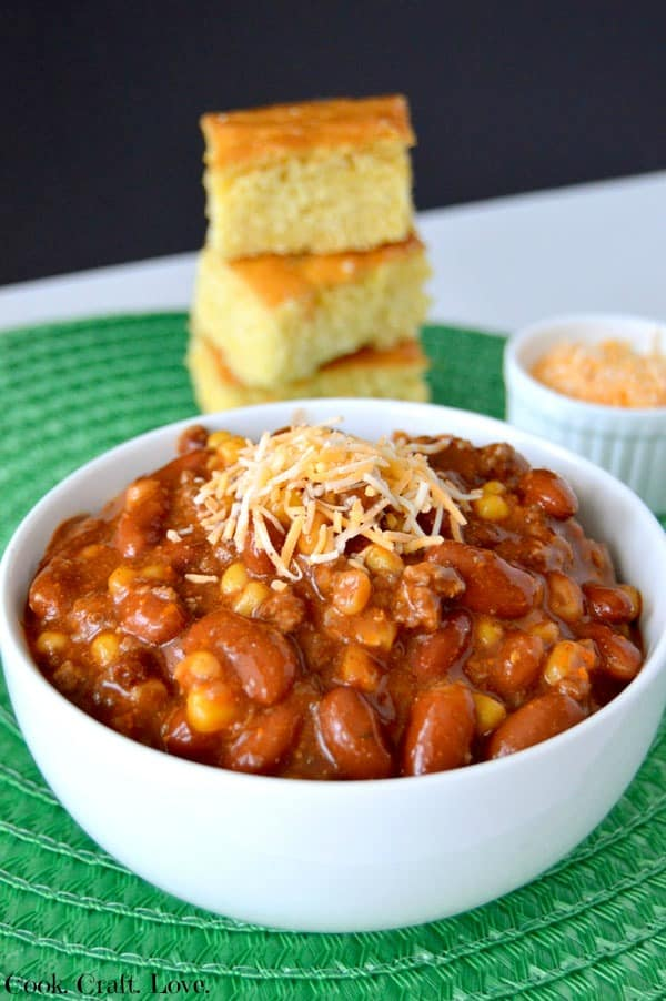 Crockpot recipes are a favorite around here and if it tastes like a taco? Even better! Try this amazing slow cooker taco chili recipe and kill two cravings with one bowl! Plus you'll love how customizeable it is!