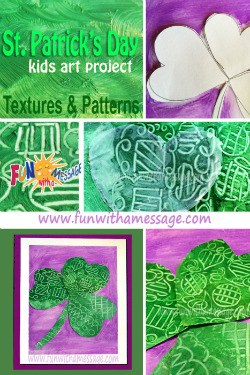 textures and patterns shamrocks