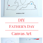 DIY Father's Day Canvas Art