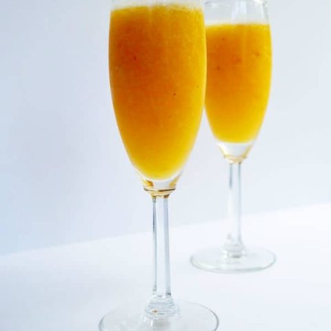 Cool down this summer with a delicious peach bellini and change it up by using your favorite frozen fruit to make your own perfect bellini