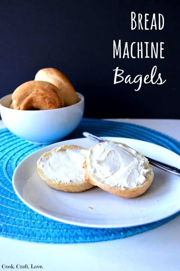 A fresh bagel is perfect for breakfast or lunch and super easy to make with the help of you trusty bread machine! Just don't forget that super simple step!
