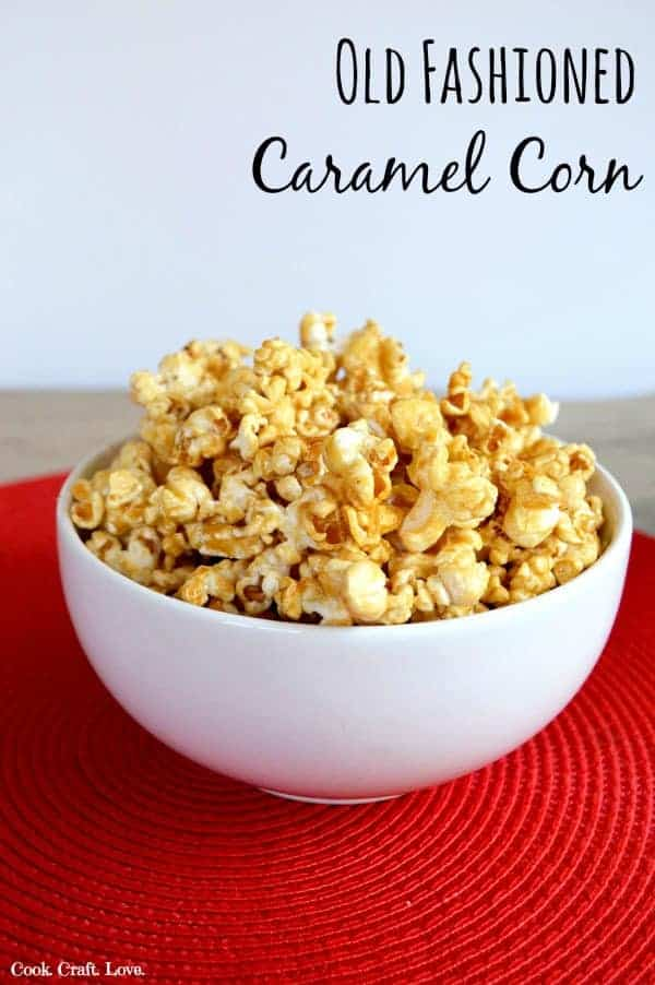 Old fashioned caramel corn isn't just for the fair anymore! Make this super easy caramel corn at home and enjoy a sweet snack any time.