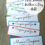 Mother's Day is right around the corner and if you're scrambling for a last minute gift idea then give mom the gift of time this mother's day with these fun printable coupons!