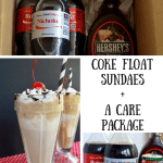Coke Float Sundaes + a Care Package