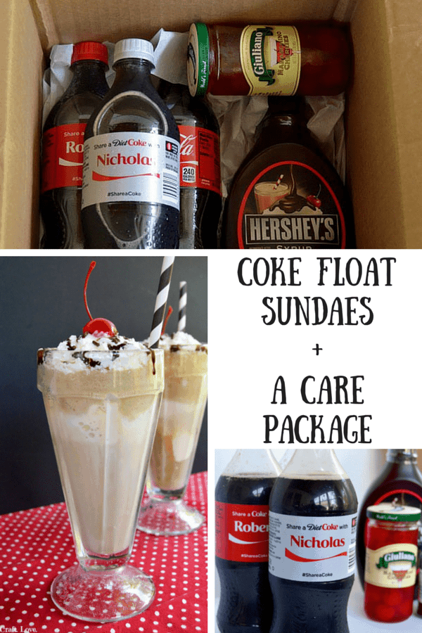 Share a Coke with your family this summer by sending them a care package filled with all the fixins they'll need for a Coke Float Sundae! Then you can celebrate summer even from afar with Coke!