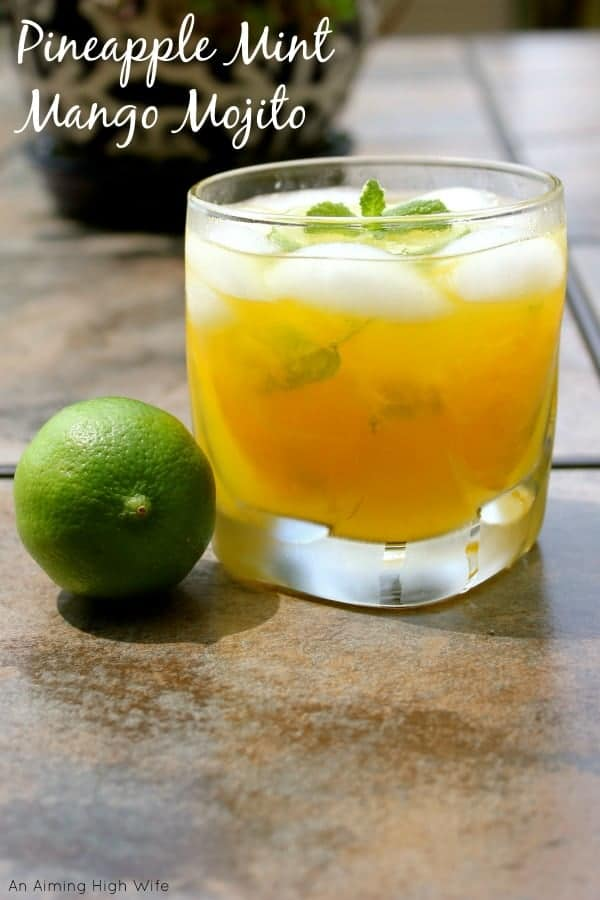 This delicious pineapple mint manjo mojito is a tropical twist on the old favorite mojito!