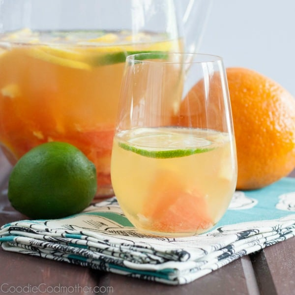 Sangria is a fun and fruity way to enjoy a glass of wine with friends this weekend. This Sunshine State Sangria brings all your favorite tropical flavors together into one delicious sangria recipe!