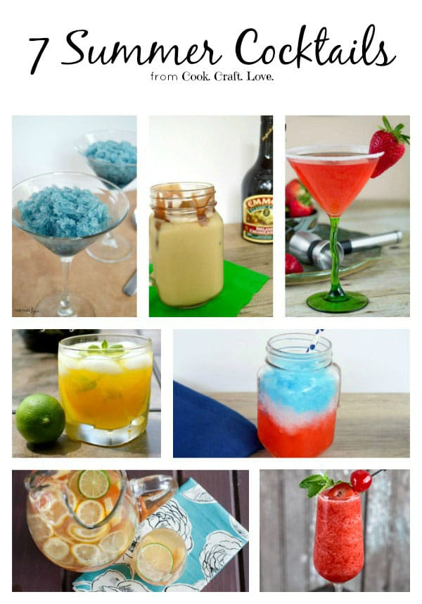 Need a delicious summer cocktail recipe? Here are 7 perfect summer cocktails for your next night in, dinner with friends, or bbq!