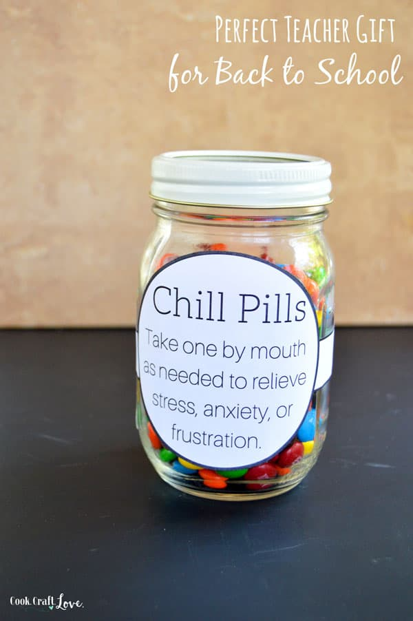 picture regarding Printable Chill Pill Label titled Great Trainer Present for Back again towards College or university Prepare dinner. Craft. Take pleasure in.