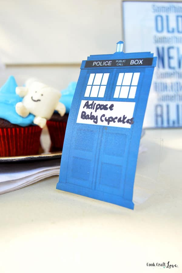 Dr. Who is a phenomenon in our house so of course when my best friend got married I had to throw her a Dr. Who themed bridal shower!