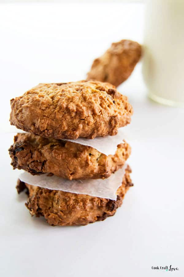 I never thought I'd see the day where I baked some avocado into a cookie but it's the perfect amount of fat for a dairy free oatmeal raisin cookie your whole family will love!