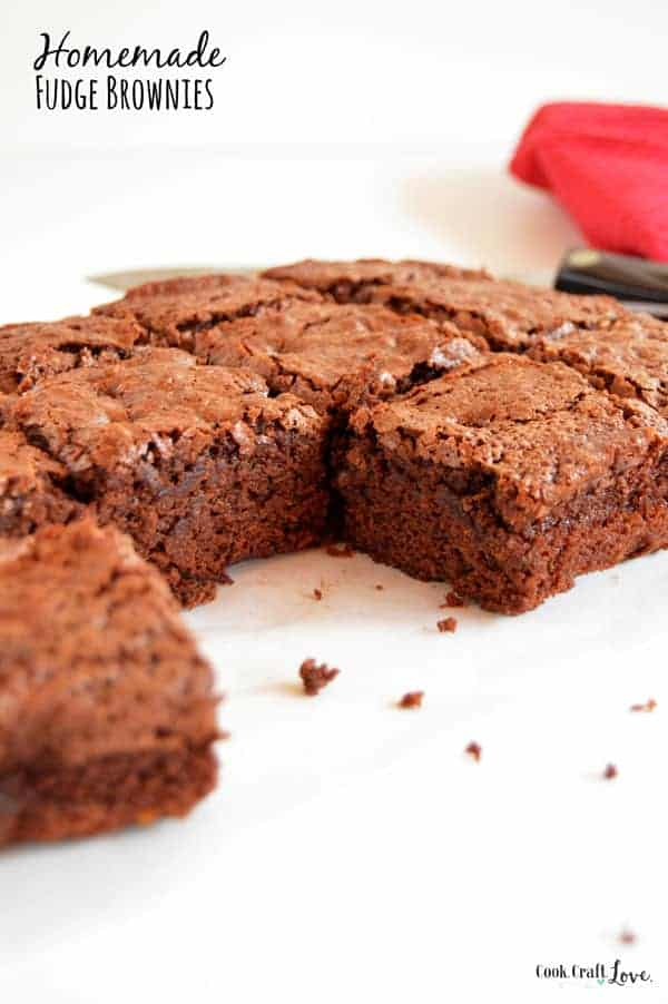 For years I was stuck on brownies from a box until I finally discovered the best homemade fudge brownie recipe! You'll never believe the secret to perfect homemade fudge brownies!