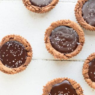 Dark Chocolate Ganache Tartlets