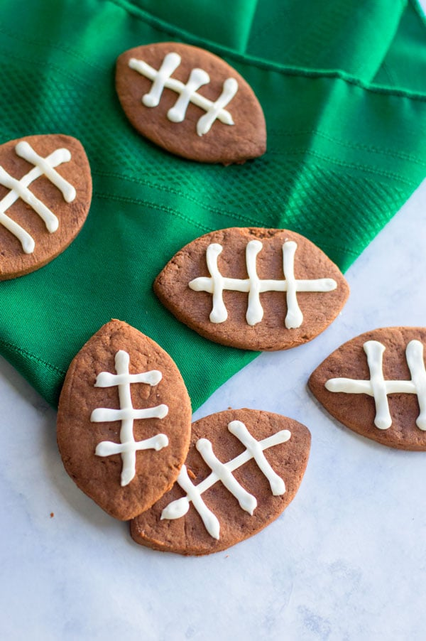 football cookie cutter template - chocolate shortbread football cookies cook craft love