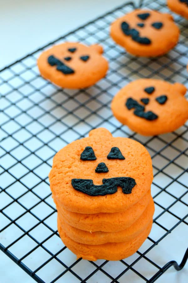 get ready for halloween with these super simple jack o lantern cookies starting with