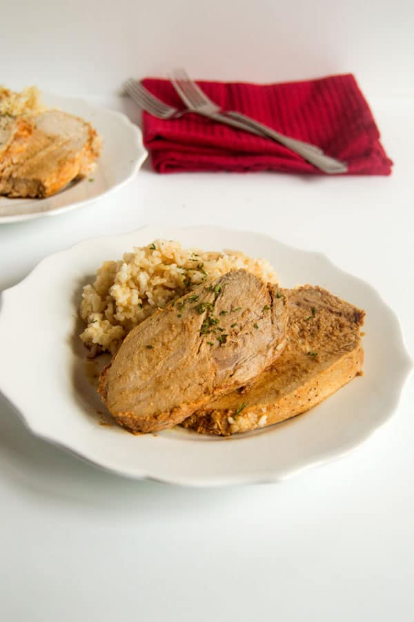 Smithfield's marinated pork loin is a super simple way to bring a lot of flavor to the table with minimum effort. Cook it low and slow in the crock pot for an asian pork loin the whole family will love!