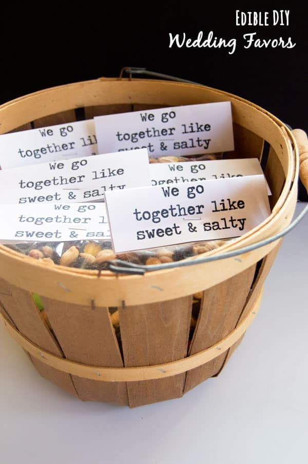 DIY weddings are all the rage as couples prefer to spend less on their big days.  Try this super cute DIY wedding favor for your big day for just pennies per guest!