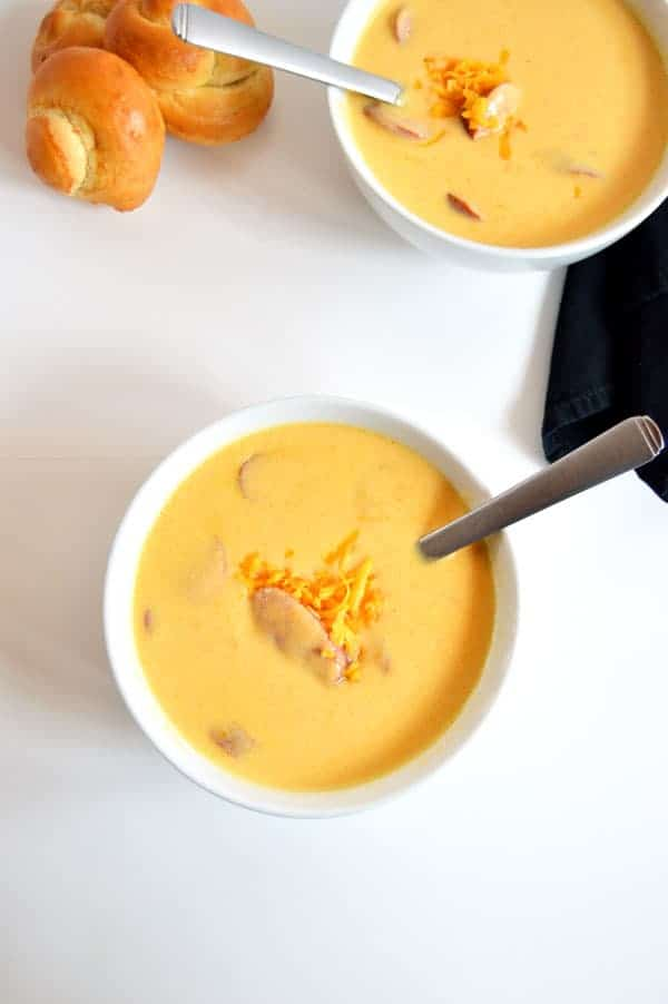 German cheese soup is a flavor that takes me back to my favorite Oktoberfest celebrations! And it's perfect for keeping you warm all winter long