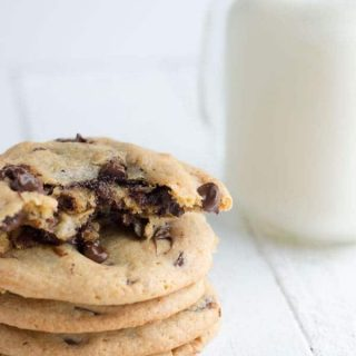 Chocolate Filled Chocolate Chip Cookies