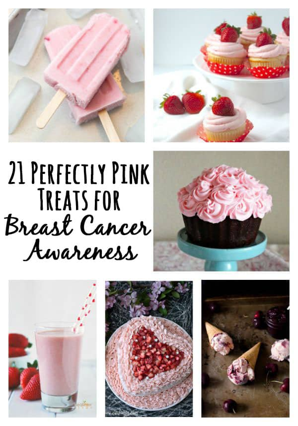October is Breast Cancer Awareness month and a cause near and dear to my heart. So I'm excited to bring you 21 delightfully pink treats perfect for breast cancer awareness month!
